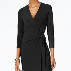 Calvin Klein Black Wrap Dress